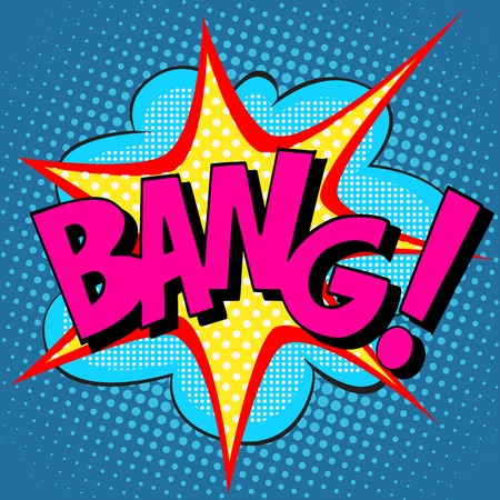 bang: text Bang pop art retro style comic item