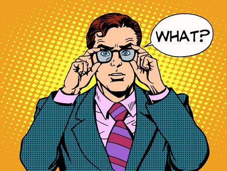 comic: lo sorprendi� hombre de negocios de arte pop de estilo retro