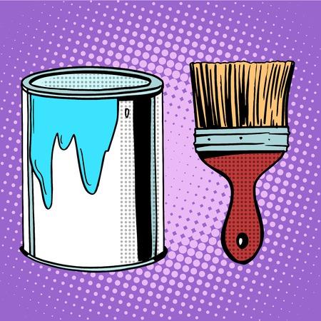 painting style: paint brush work painting design pop art retro style
