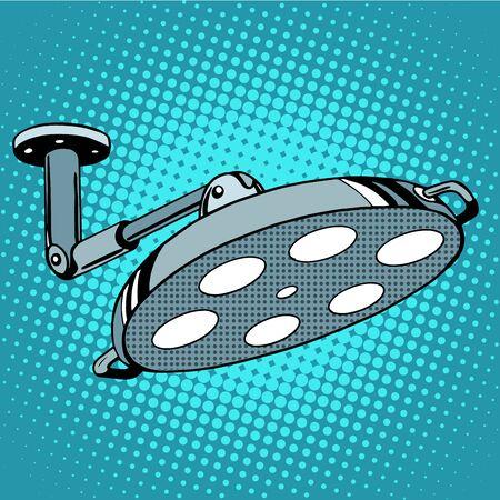 medical equipment: Medical equipment operating light pop art retro style