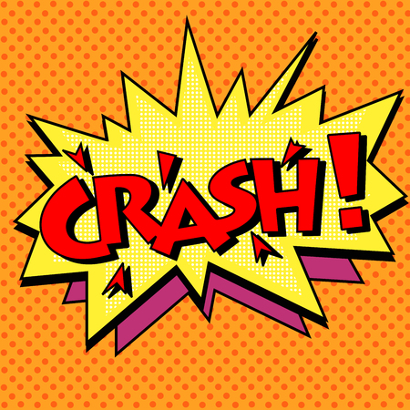 accident: crash comic text bubble pop art retro style Illustration
