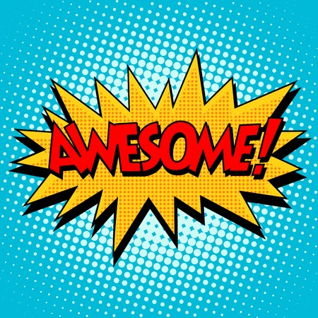 Awesome comic bubble retro text. Pop art style