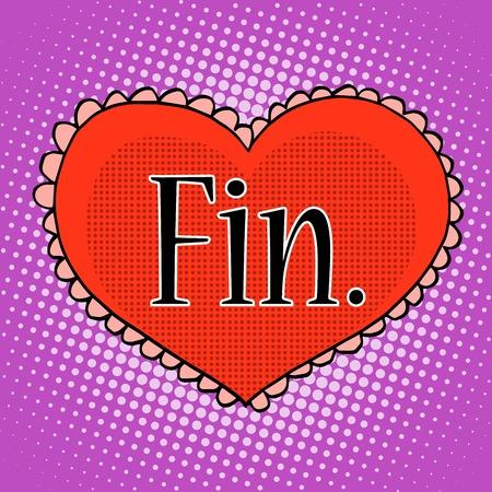 enamorados caricatura: El rojo del amor del coraz�n del estilo pop art retro final.
