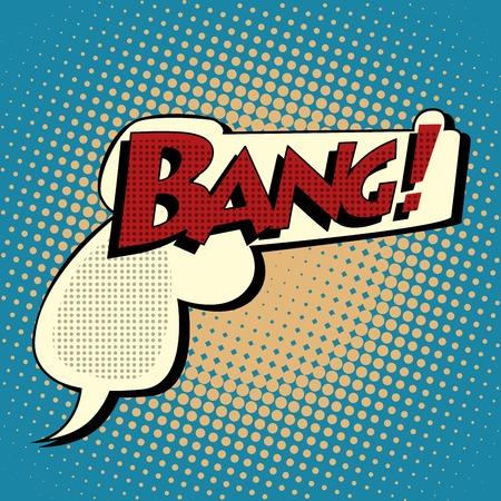 malandros: Golpear la burbuja de cómics en la forma de un estilo del arte pop retro arma. Gángsters y matones
