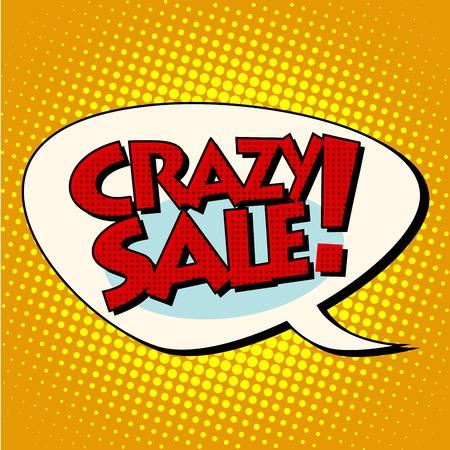 talks: crazy sale comic bubble lettering pop art retro style