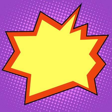 explosie komische bubble retro achtergrond voor tekst pop art retro stijl Vector Illustratie