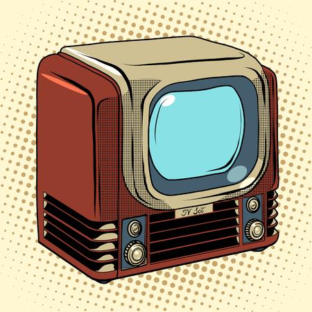 purchase book: Retro TV home appliances pop art retro style. Old TV. TV vector