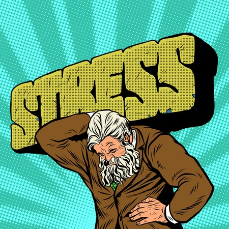 old business man: Antique Atlas strong man businessman pop art retro style. Greek image in the business. Mighty old man. Boss the head of the company