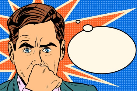 thinker: businessman thinker man pop art retro style. Business concept idea. Vector thought