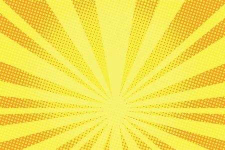 복고풍 만화 노란색 배경 래스터 그라데이션 하프 톤 팝 아트 복고 스타일
