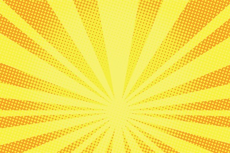retro comic yellow background raster gradient halftone pop art retro style Vectores