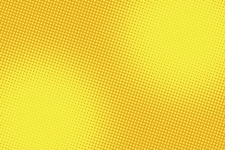 retro comic yellow background raster gradient halftone pop art retro style  イラスト・ベクター素材
