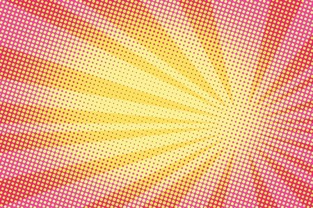 Retro Comic-Retro-Stil gelben Hintergrund Raster-Gradient Halbton-Pop-Art