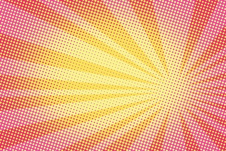 retro comic yellow background raster gradient halftone pop art retro style Illustration
