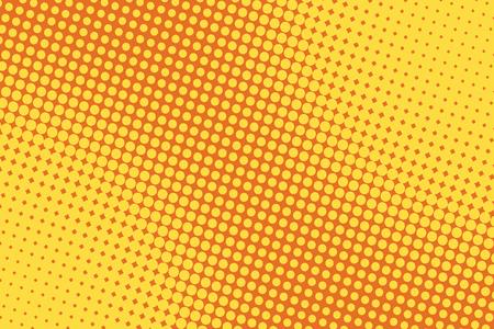 retro comic yellow background raster gradient halftone pop art retro style Illustration