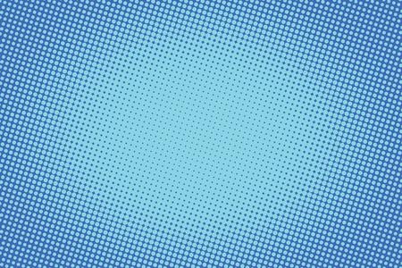 복고풍 만화 파란색 배경 래스터 그라데이션 하프 톤 팝 아트 복고 스타일