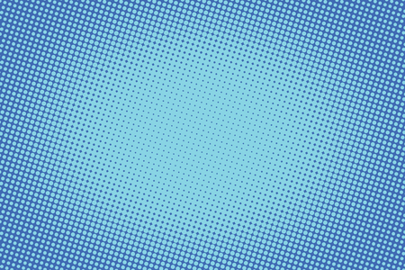 retro comic blue background raster gradient halftone pop art retro style Illustration
