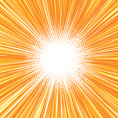 Fondo de la explosión brillante cómico retro del arte pop retro del arte pop del vector. El resplandor de los rayos del sol. Fondo de la explosión del vector Foto de archivo - 57231407