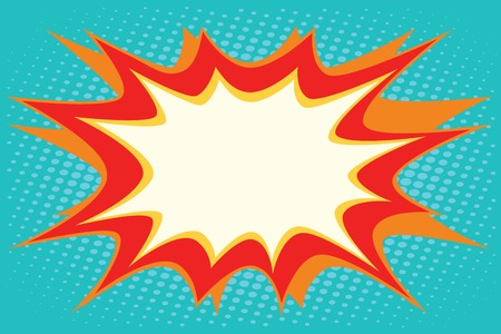 Comic book explosion bubble dynamic pop art retro vector Illustration