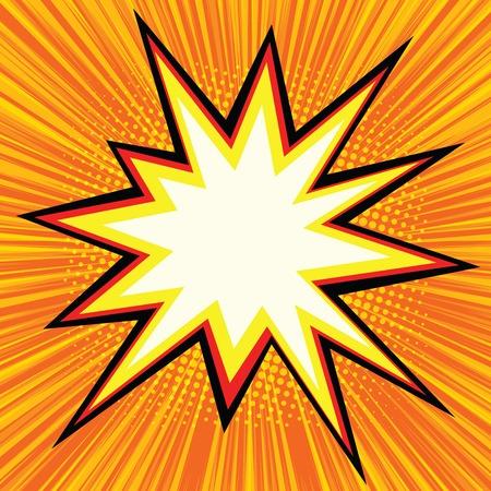 Explosion comics bubble pop art retro vector