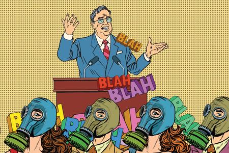 political candidate, electoral hygiene pop art retro vector. Empty promises Stock fotó - 59291440