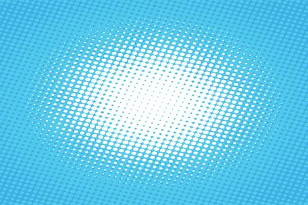 青いポップアート ハーフトーン効果ベクトル イラストとレトロな背景。