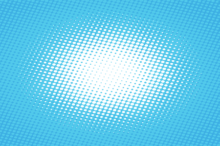 illustrations and vector art: Blue pop art retro background with halftone effect vector illustration.