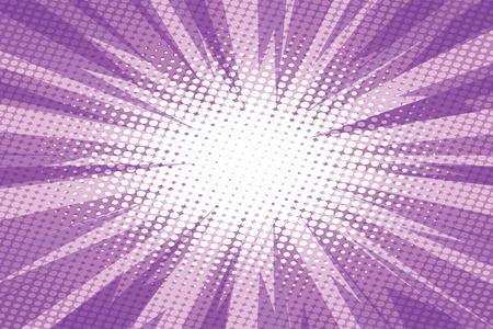 紫の pop アート レトロなバースト背景ベクトル イラスト。