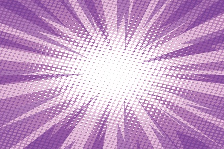 Purple pop art retro burst background vector illustration.