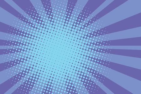 rayons bleus pop art comique rétro vecteur de fond