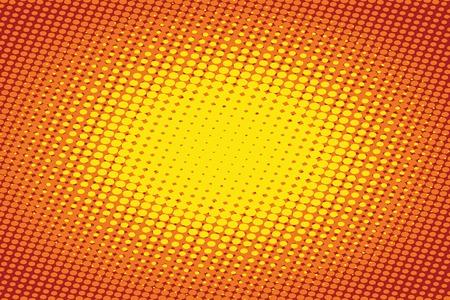 Orange light raster pop art retro background vector illustration. Illustration