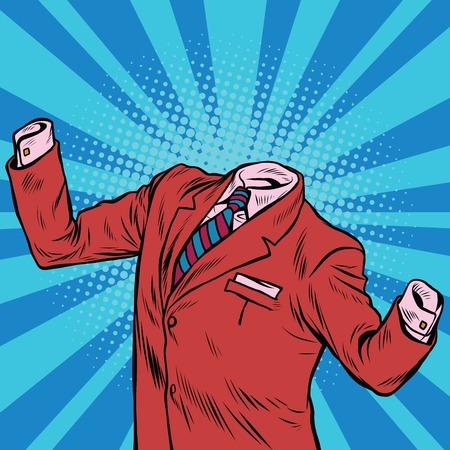 De onzichtbare man zakenman pop art retro vector illustratie