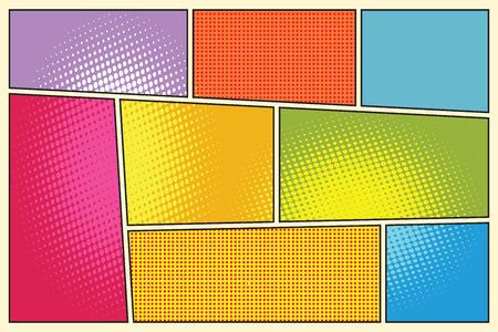 Pop art comique style storyboard livre rétro illustration vectorielle Banque d'images - 60251269