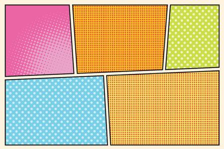 コミック ストーリー ボード スタイル ポップ アート レトロなベクトル イラスト  イラスト・ベクター素材
