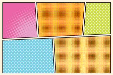 storyboard: Comic book storyboard style pop art retro vector illustration Illustration