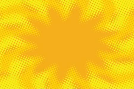 Yellow orange abstract pop art retro comic background vector illustration