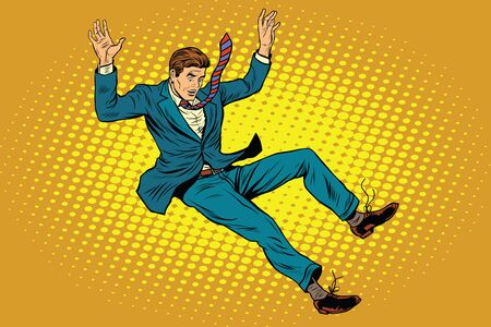 Man falls down from a height, pop art retro vector illustration Ilustrace