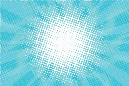 azul: Sunny arte pop neblina azul vector retro fondo ilustración