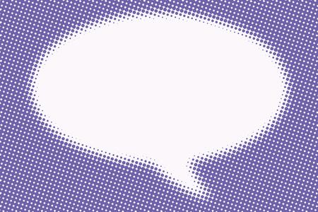sharpness: Comic bubble cloud is blurred pop art retro vector illustration
