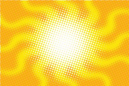 Retro sun with rays pop art vector illustration. the broken rays silhouette jellyfish