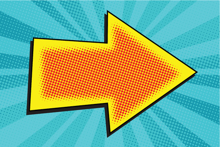 Arrow pop art retro vector illustration. A pointer to the direction Illustration