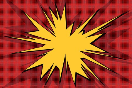 vector backgrounds: Explosive pop art background comics bubble retro vector illustration