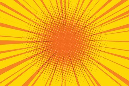 Die Sonne Comic-Retro-Hintergrund Pop-Art Retro-Vektor-Illustration