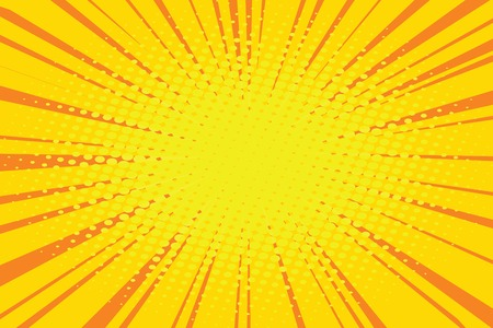 Die Sonne Comic-Retro-Hintergrund Pop-Art Retro-Vektor-Illustration Standard-Bild - 60932455