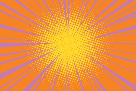 The sun comic book retro background pop art retro vector illustration