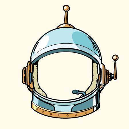 Space suit helmet isolated on white background, pop art retro vector illustration