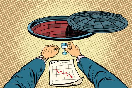 sunroof: Businessman loser wants to throw down, pop art retro vector illustration