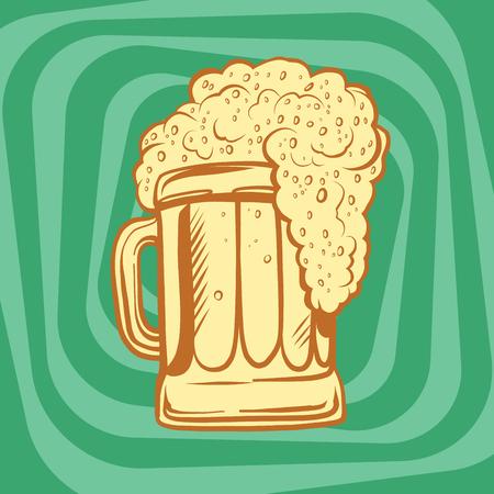 lager beer: mug of foamy beer