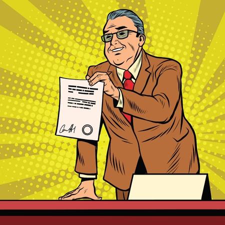 bureaucrat: Business boss with a contract