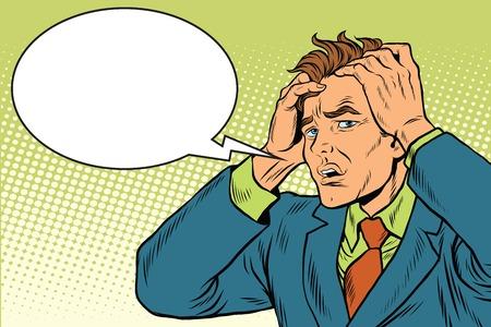 Headaches men severe pain Illustration